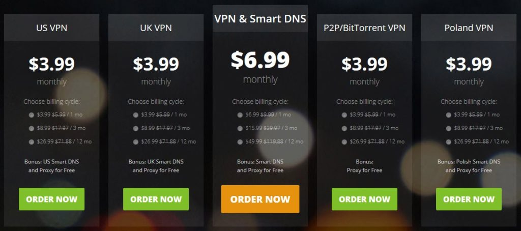 vpn pricing