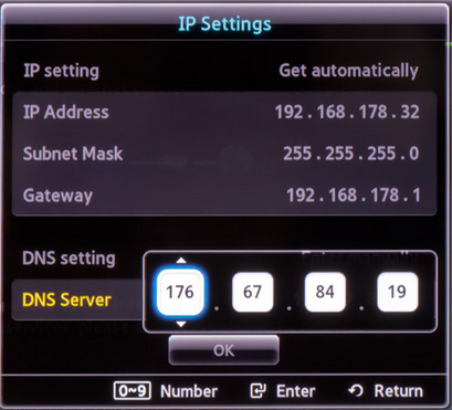 How to Configure Smart DNS on Samsung Smart TV? - Smart DNS Provider