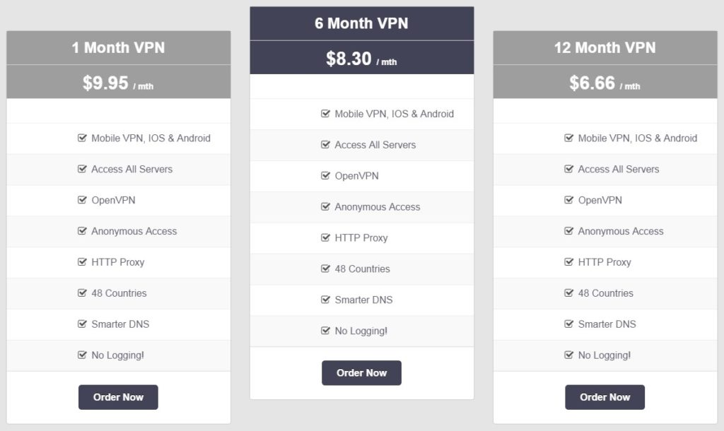 vpnsecure.me pricing